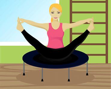 Yoga on a trampoline